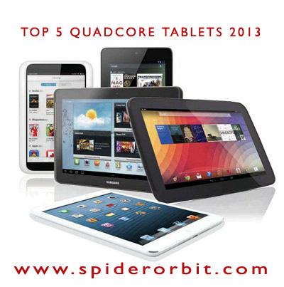 Top 5 Quad Core Tablets-spiderorbit