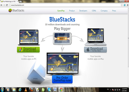 Bluestacks interface-spiderorbit