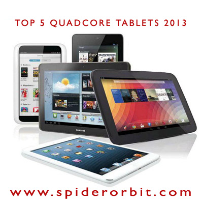 Top 5 Quad Core Tablets-spiderorbit