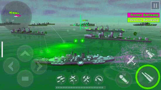 Warship Battle: 3D World War II for PC or mac -spiderorbit